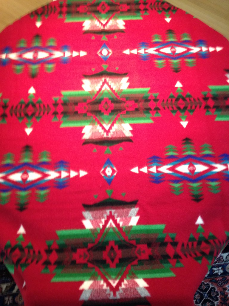 Pendleton Shawl Cardinal Red Primary background color is Flickr 768x1024