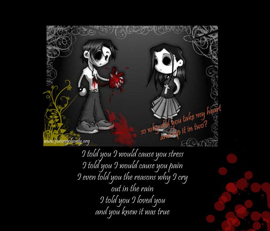 Emo Wallpaper Broken Heart Poetry Wallpaper 897x768
