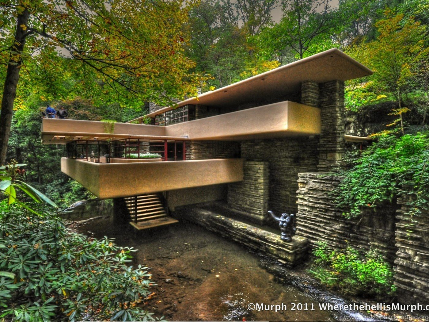 Frank Lloyd Wright Falling Water Wallpapers Desktop Background 1400x1050