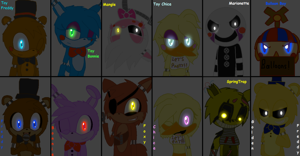 Free download All FNAF Characters In Sonic Style by Marine The