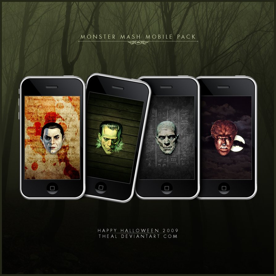 Classic Horror Monsters Wallpaper Show off your horror cred by 894x894