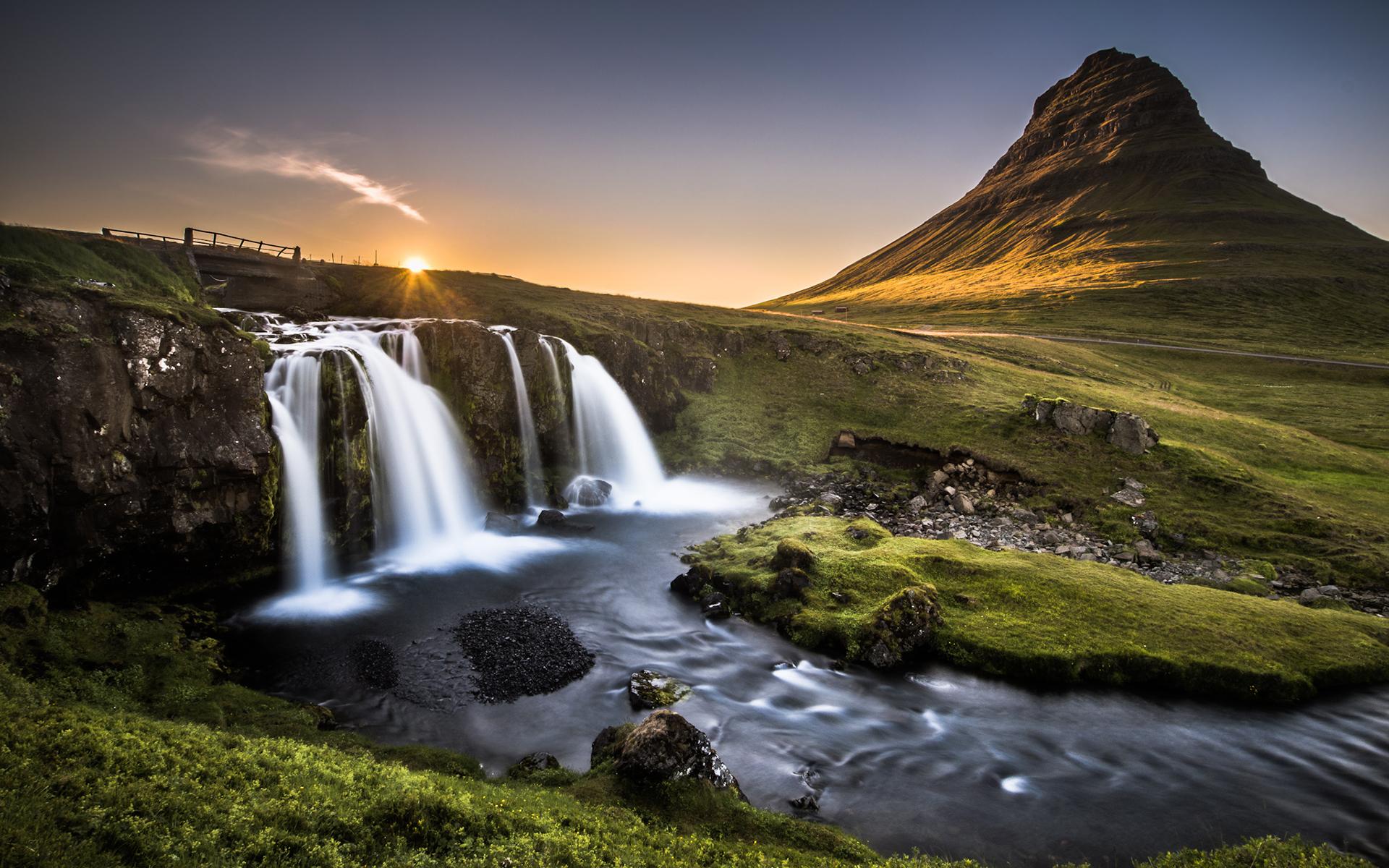 Kirkjufell Iceland by Andreas Wonisch   Desktop Wallpaper 1920x1200