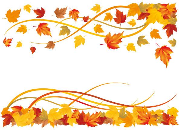 Vector Fall Leaf Border Tera Wallpaper 595x431
