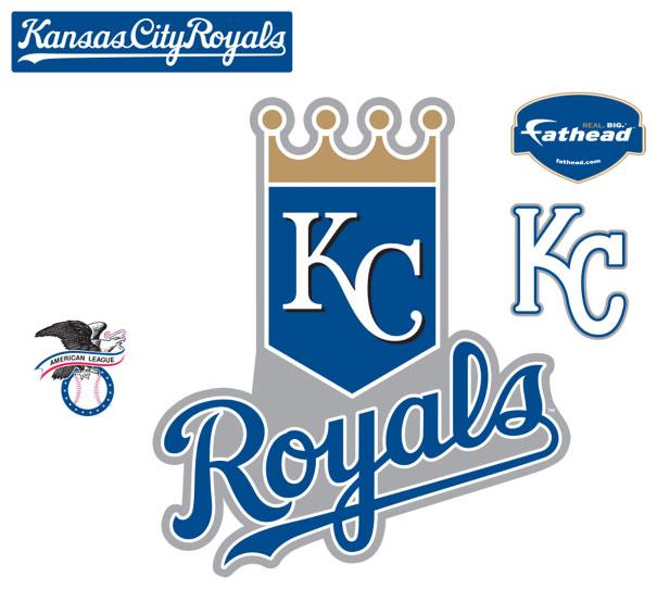 Kansas City Royals Logo Fathead MLB Wall Graphic 605x542