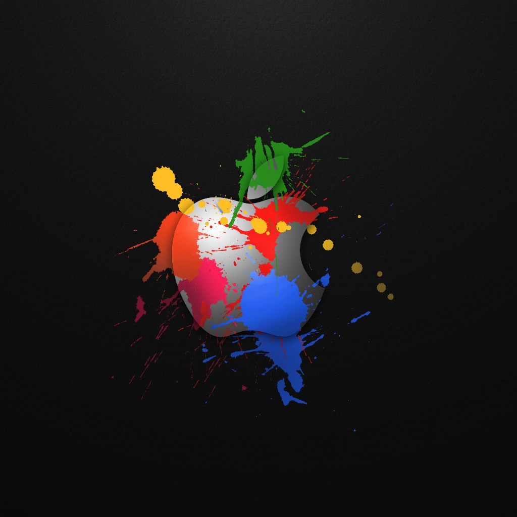 Apple In Colours iPad Wallpaper Download iPhone Wallpapers iPad 1024x1024