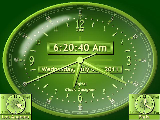 Countdown Timer Digital Clock for Desktop Software World Clock Face 640x480
