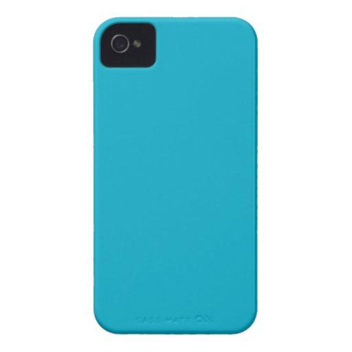 Plain Teal Background iPhone 4 Cases Zazzle 512x512