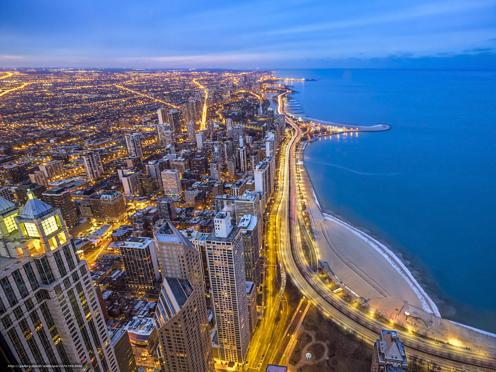 Download wallpaper Chicago illinois lake shore drive 1600x1200
