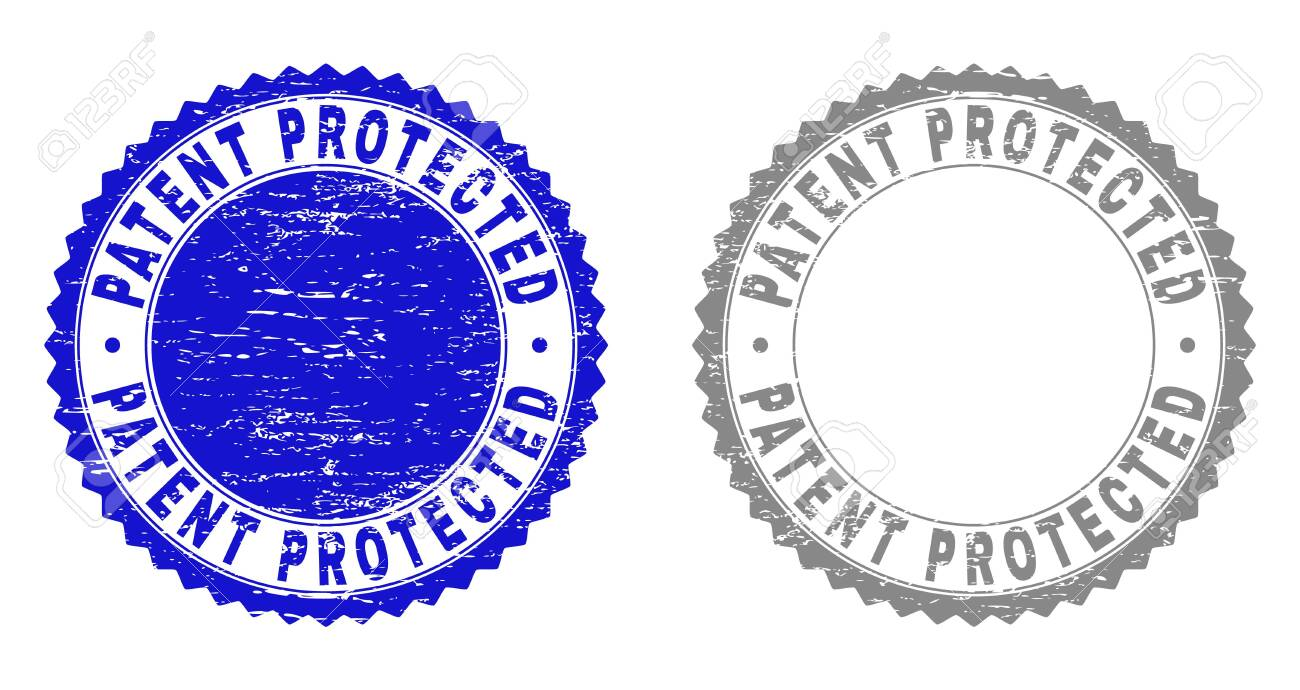 Grunge PATENT PROTECTED Stamp Seals Isolated On A White Background 1300x690
