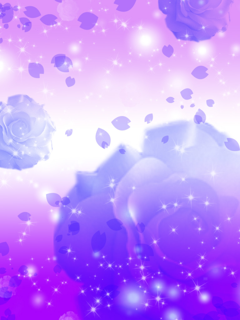 Purple Blue Rose Background by YuniNaoki 768x1024