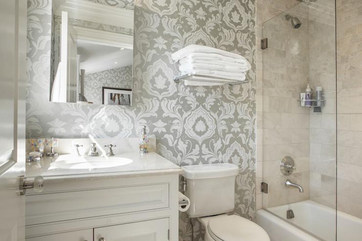 Free Download Corcoran Bathrooms Bathroom Wallpaper Damask