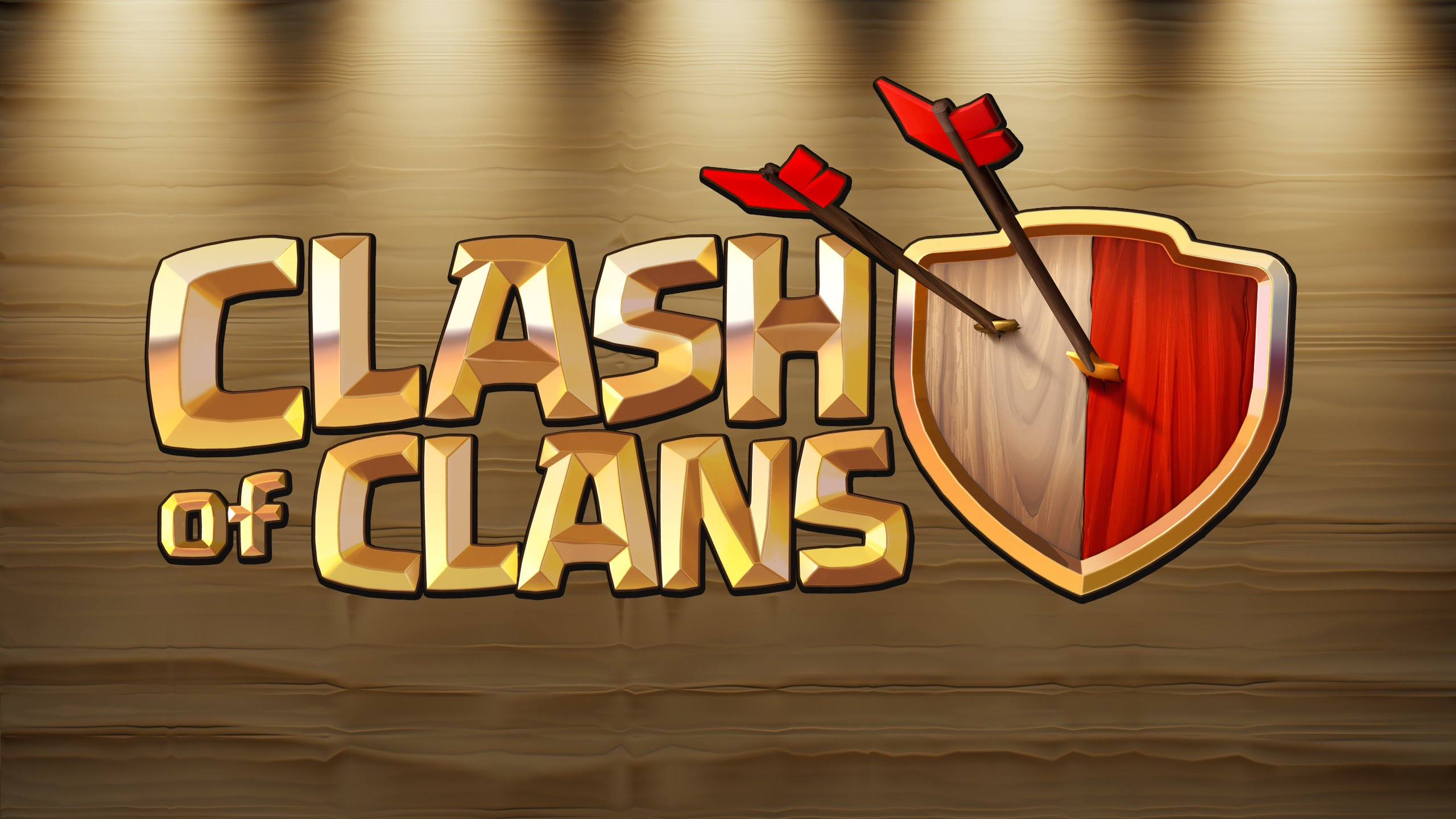 Clash of Clans Logo Wallpaper Background 58486 2560x1440 2560x1440