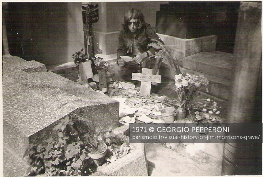 Visual history of Jim Morrisons grave Paris Mojo 913x616
