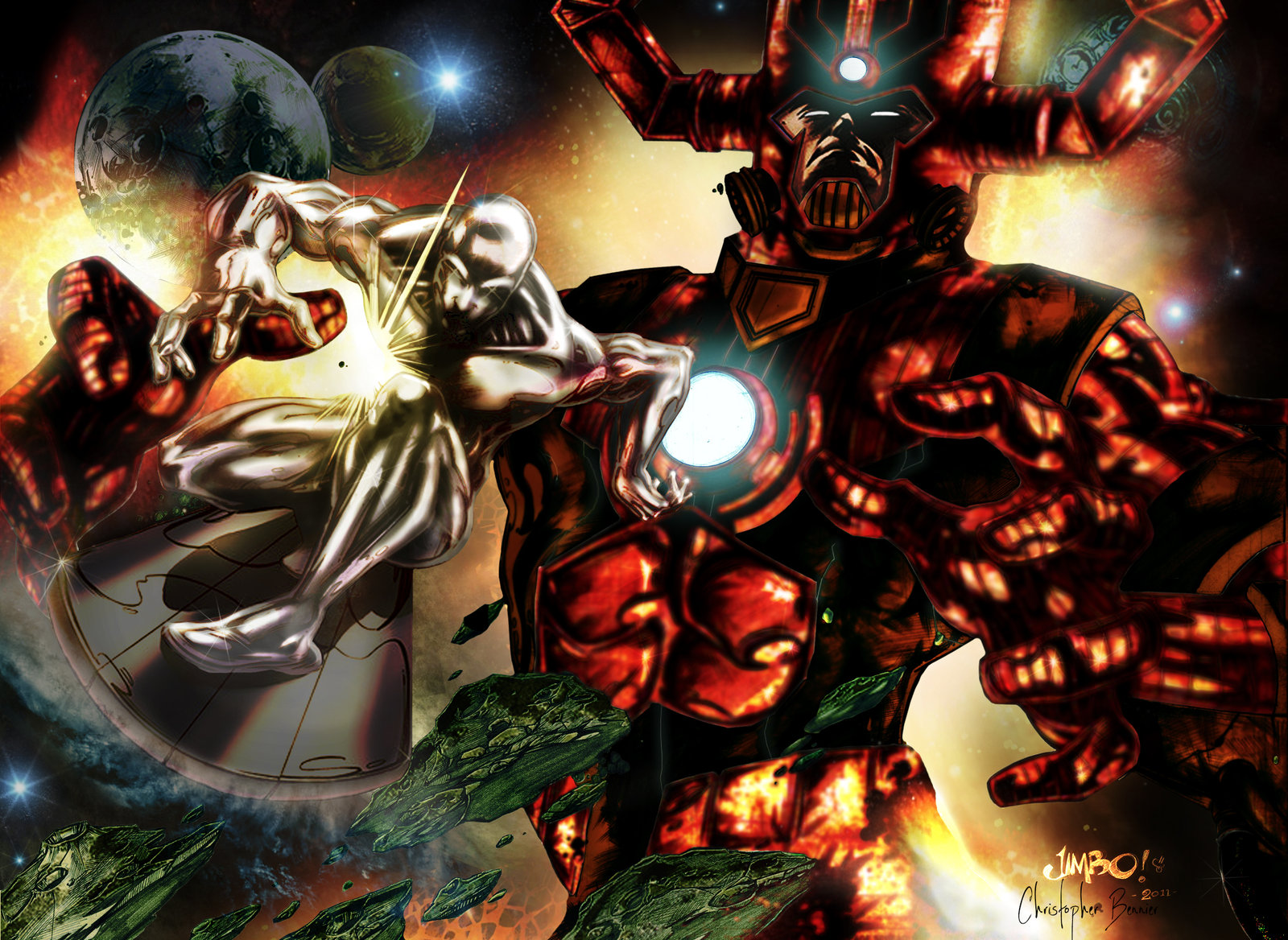 Silver Surfer Galactus Wallpaper Silver surfer vs galactus by 1600x1168
