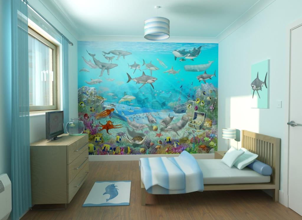 Ocean Themed Room For Kids Room Decorating Ideas 1024x746