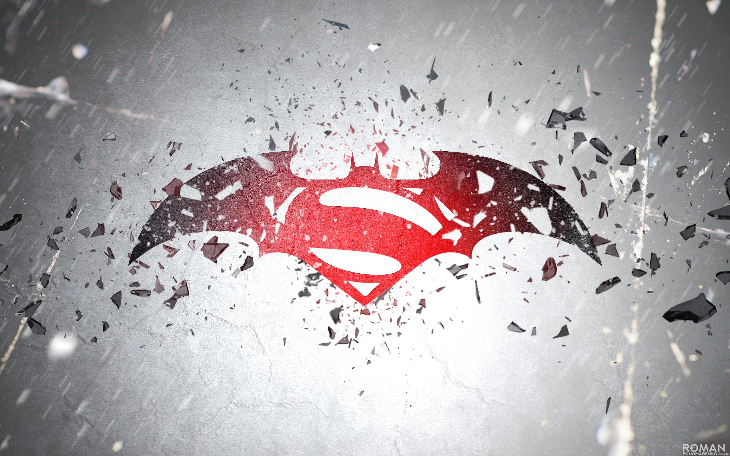 Download Batman V Superman Logo HD Wallpaper 6800 Full Size 2560x1600