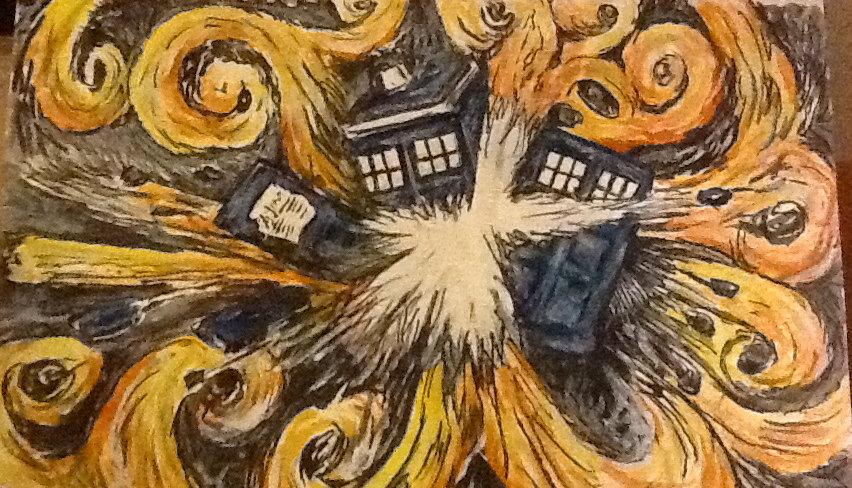 Dr Who Tardis Wallpaper Van Gogh Tardis van gogh picture