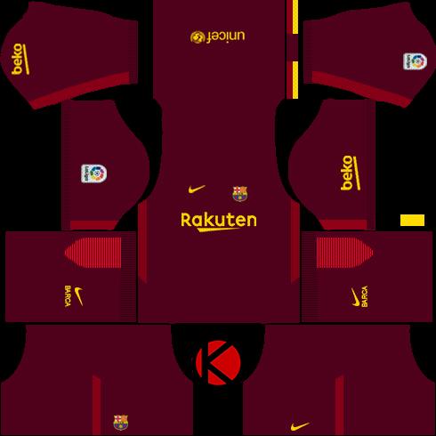 fa6b24970 Barcelona Nike Kits 20172018 Dream League Soccer 490x490