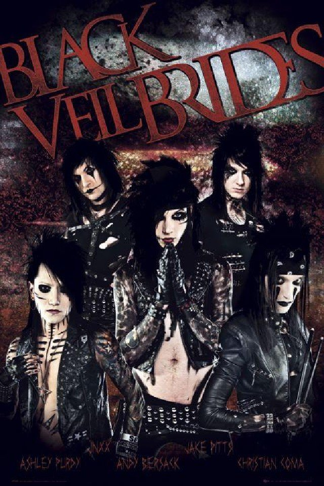 Black Veil Brides music background for your iPhone download 640x960