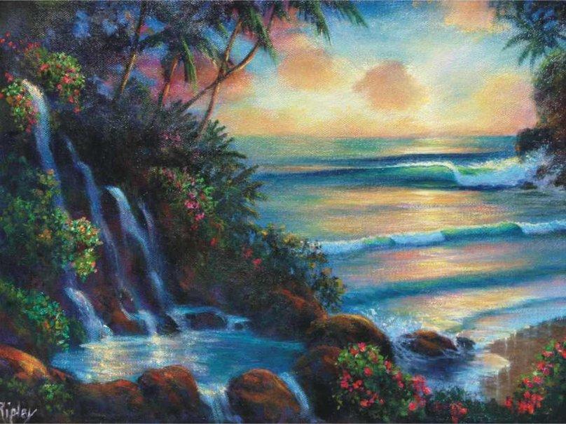 Tropical Oasis Wallpaper Tropical Oasis Wallpaper 808x606