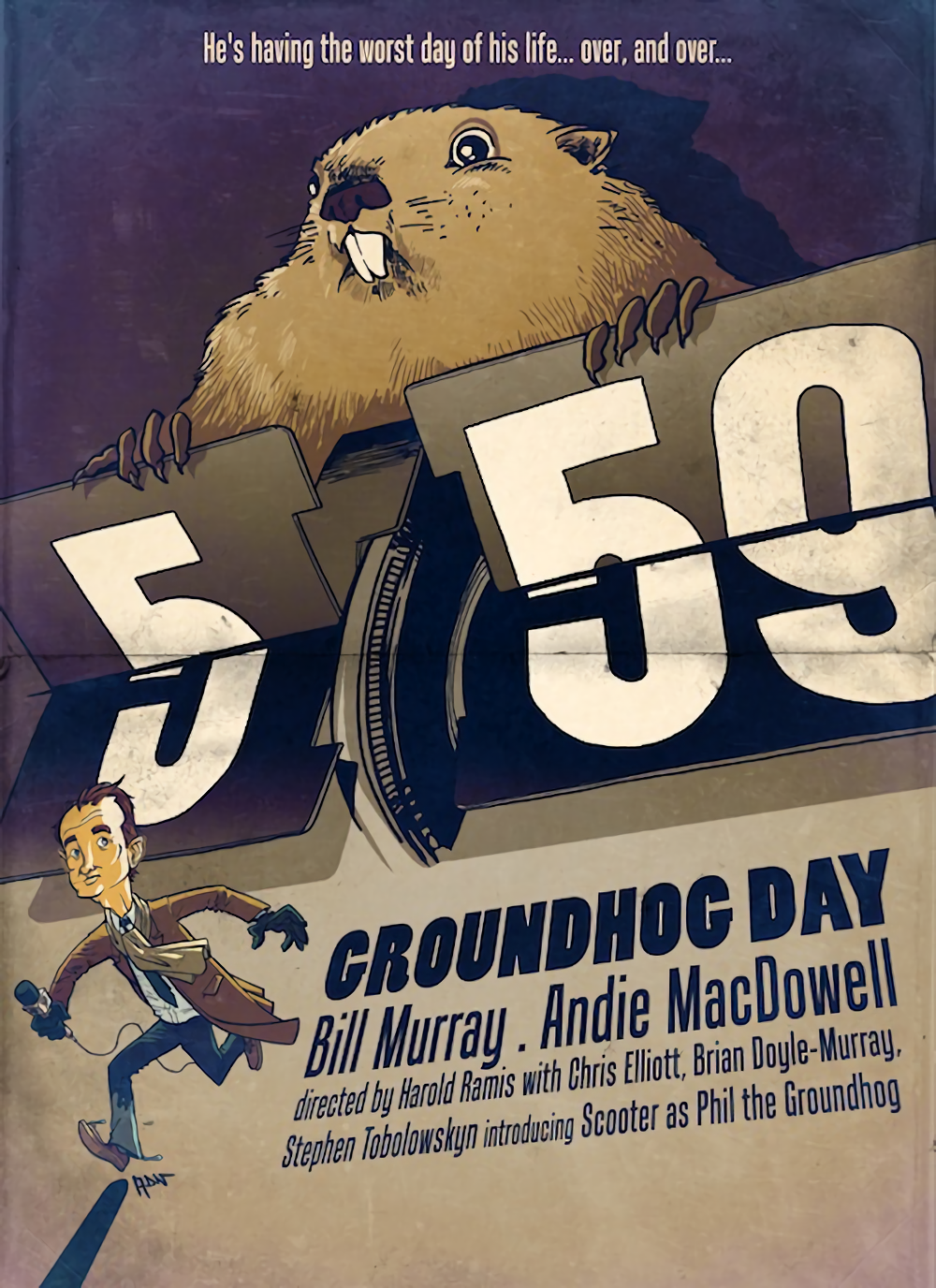 Groundhog Day 1993 HD Wallpaper From Gallsourcecom Movie 1000x1376