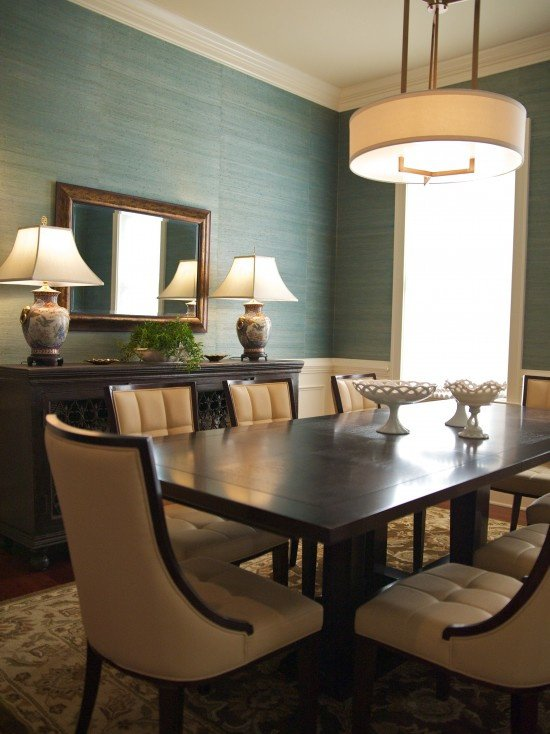 Dining Room Grasscloth Wallpaper Design Pictures Remodel Decor and 550x734