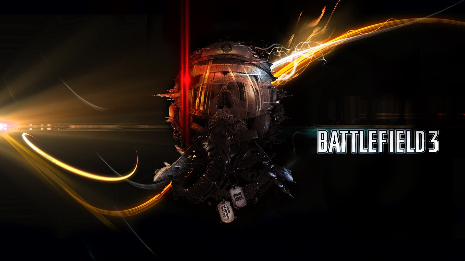 Cool Battlefield 4 Fire Armor In Black Background: Battlefield Wallpaper 1920x1080