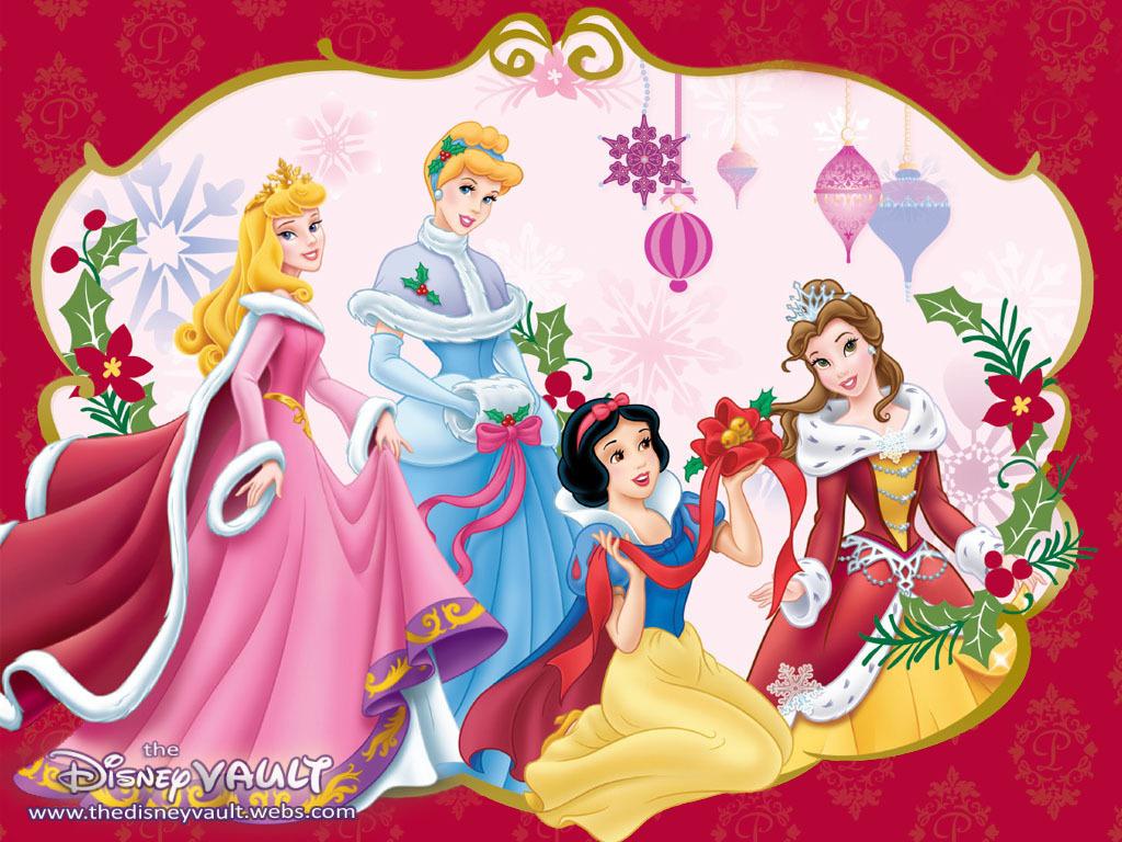 Disney Characters Christmas Wallpaper Disney princes 1024x768