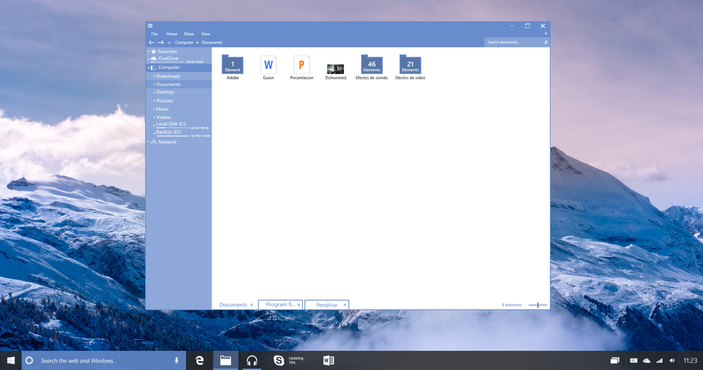 Windows 10 Redstone File Explorer by lukeled 1024x540