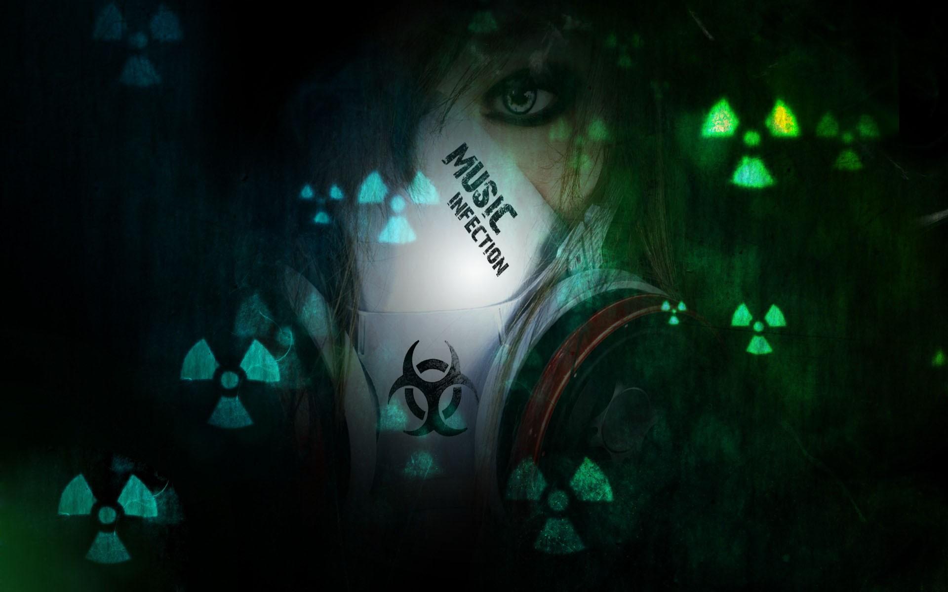 Radioactive Zombie Wallpaper Toxic Mask Wallpaper -...