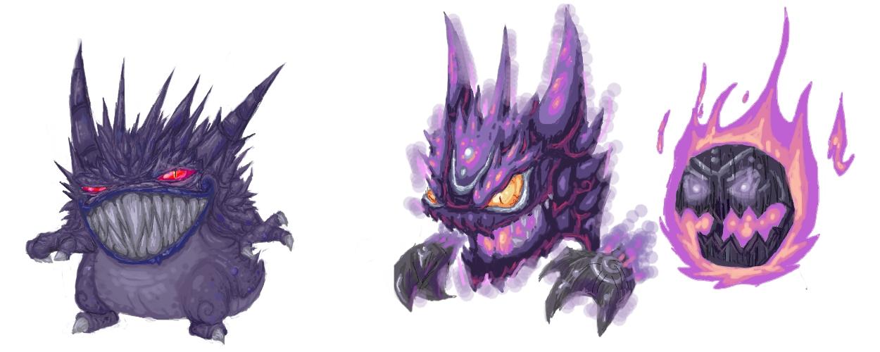 Ghost pokemons by NitendoFan92 1250x500