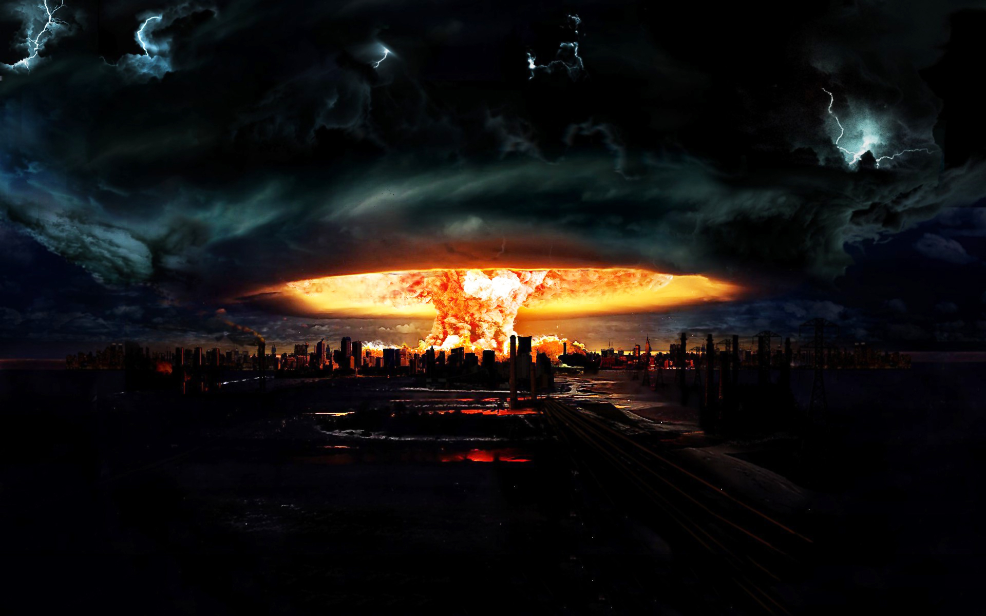 Nuclear Explosion Wallpaper HD Wallpaper Girls 5332 1920x1200