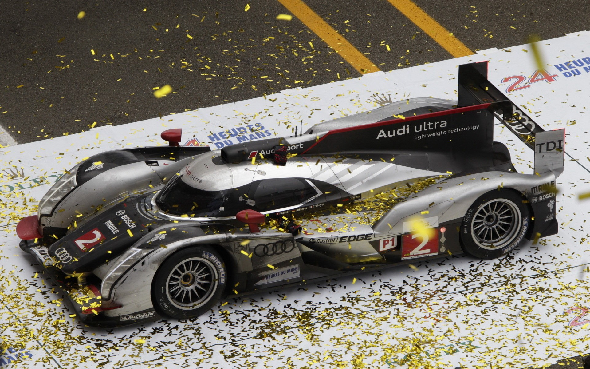 Download the Audi Le Mans Win Wallpaper Audi Le Mans Win iPhone 1920x1200