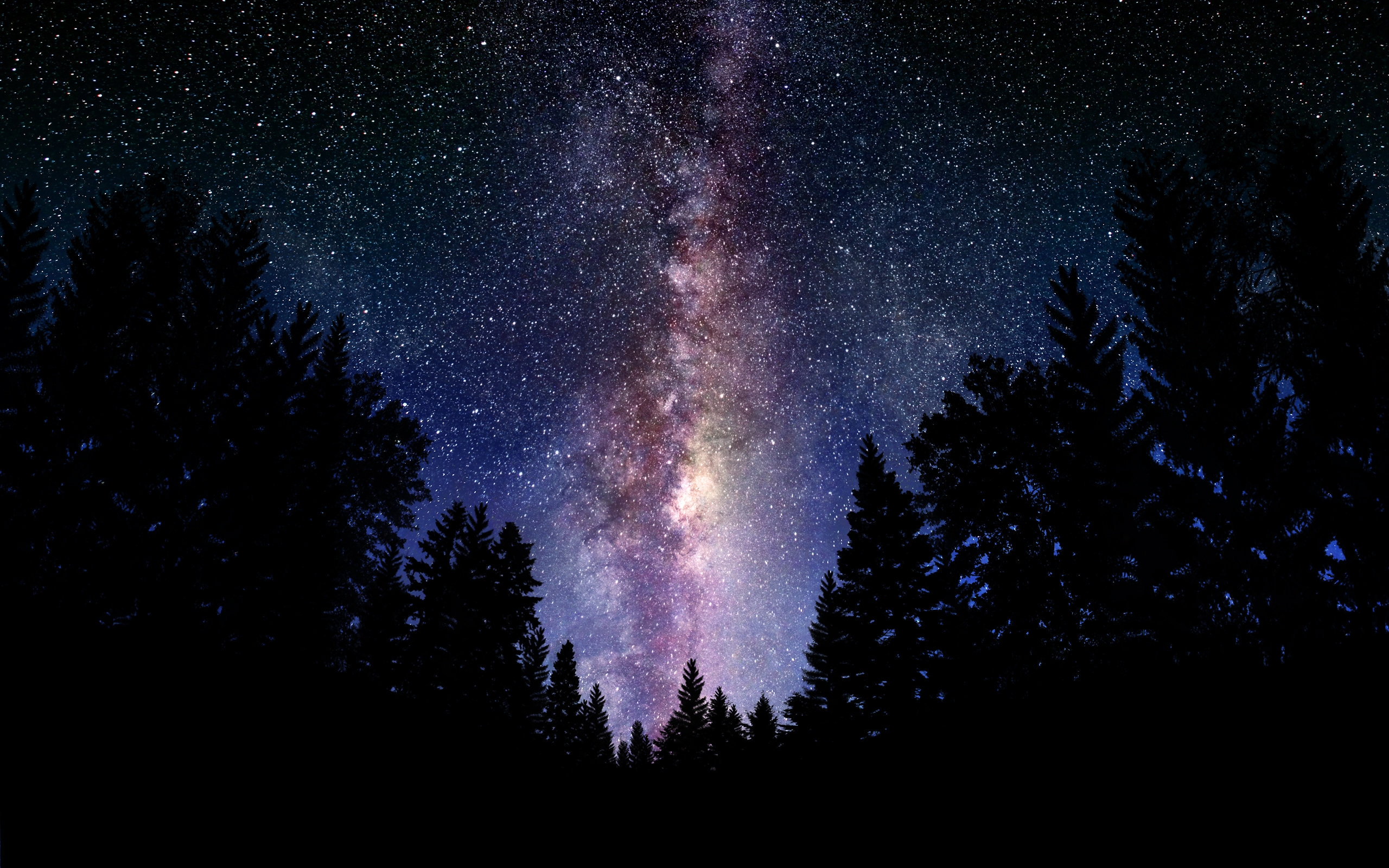 The Milky Way Galaxy Wallpapers HD 2560x1600