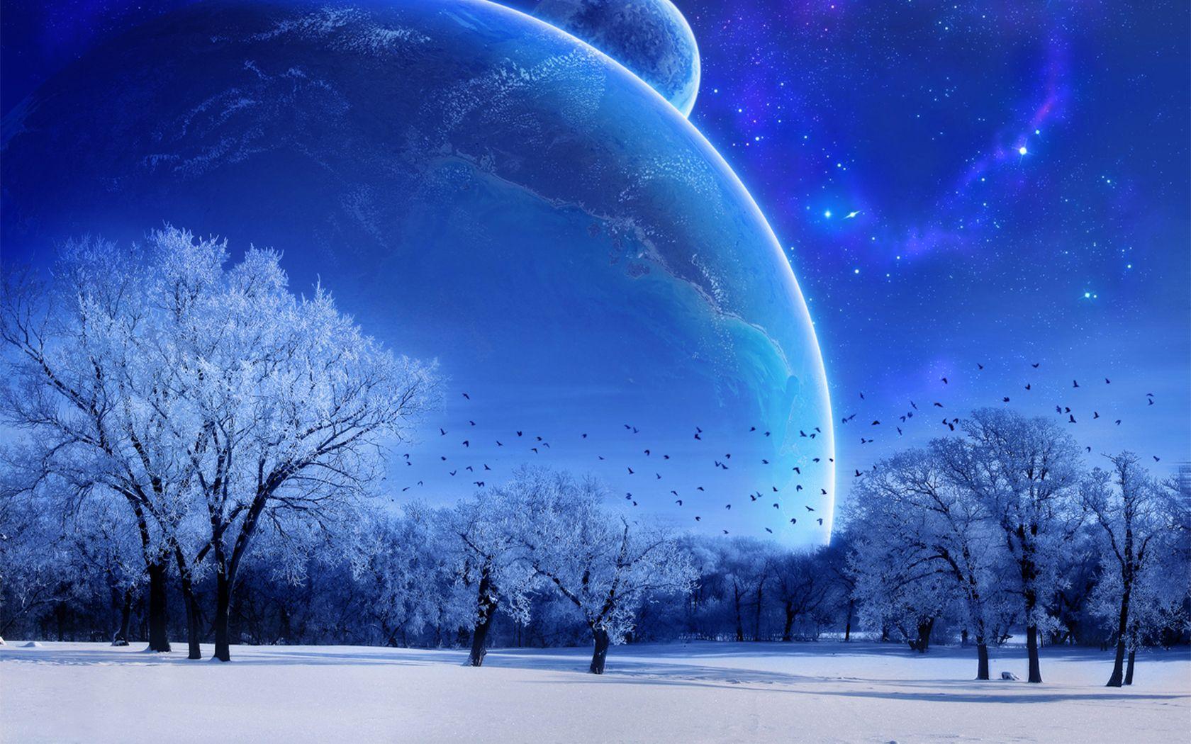 Primitive Winter Clip Art gak ngiro rame Winter scene 1680x1050