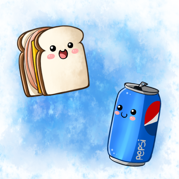 Cute Food  Sandwich and Pepsi by PPGxRRB FAN by deviantartcom 600x600
