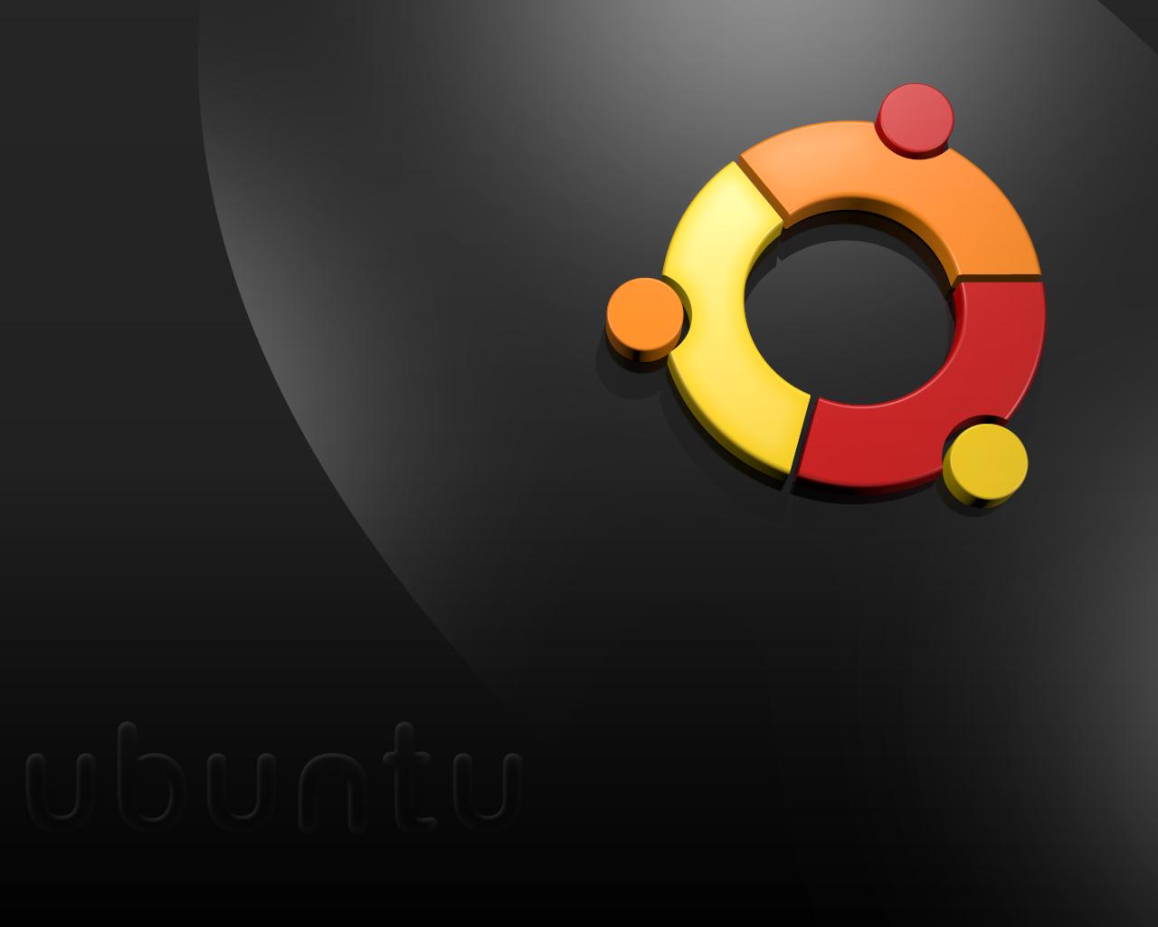 Ubuntu Black wallpaper 1280x1024