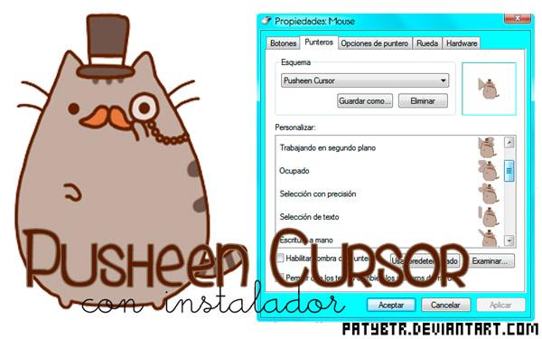 Pusheen Wallpaper Computer Pusheen   desktop themes 600x375