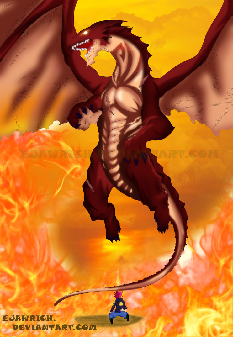 Fairy Tail 400   Natsu and Igneel   Wings of Hope by Ejawrich on 743x1075