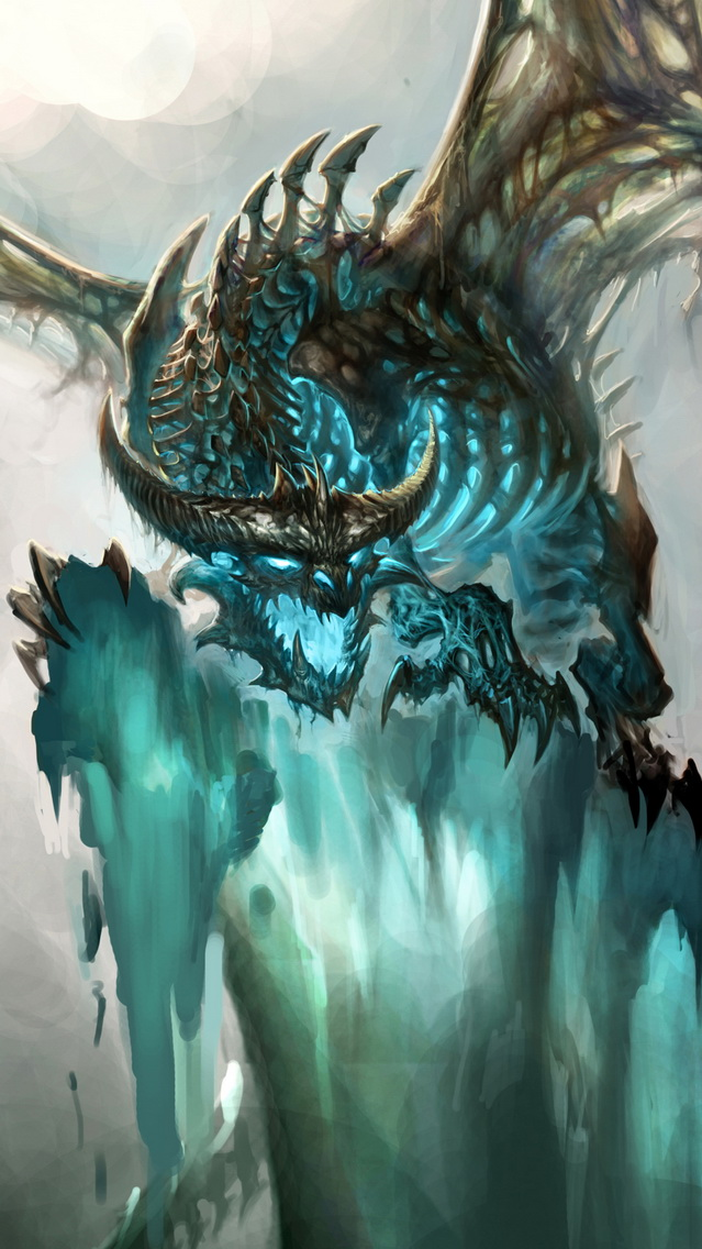 Dragon World of Warcraft   Best iPhone 5s wallpapers 639x1136