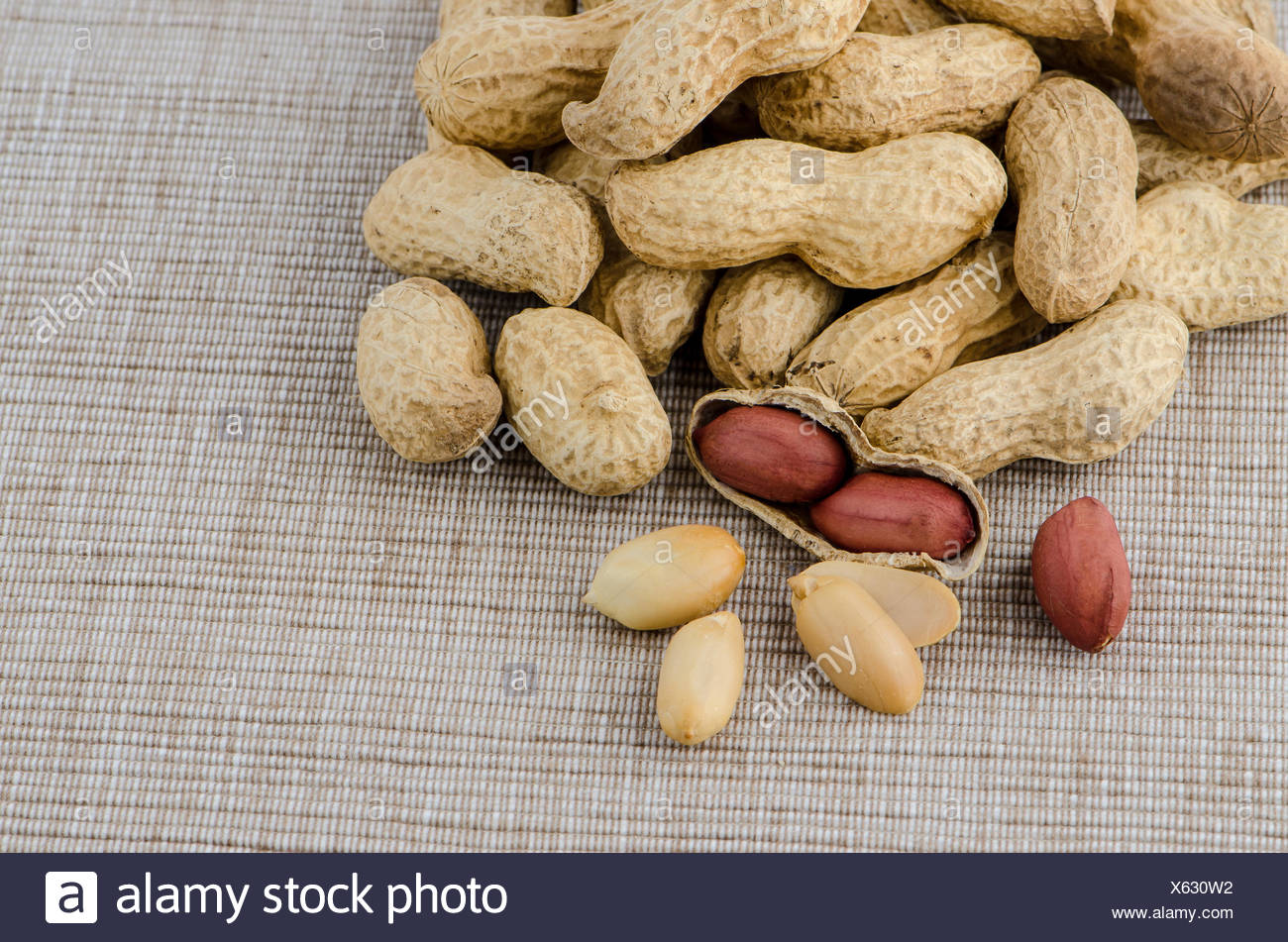 Peanuts On Old Raffia Background Stock Photos Peanuts On Old 1300x951