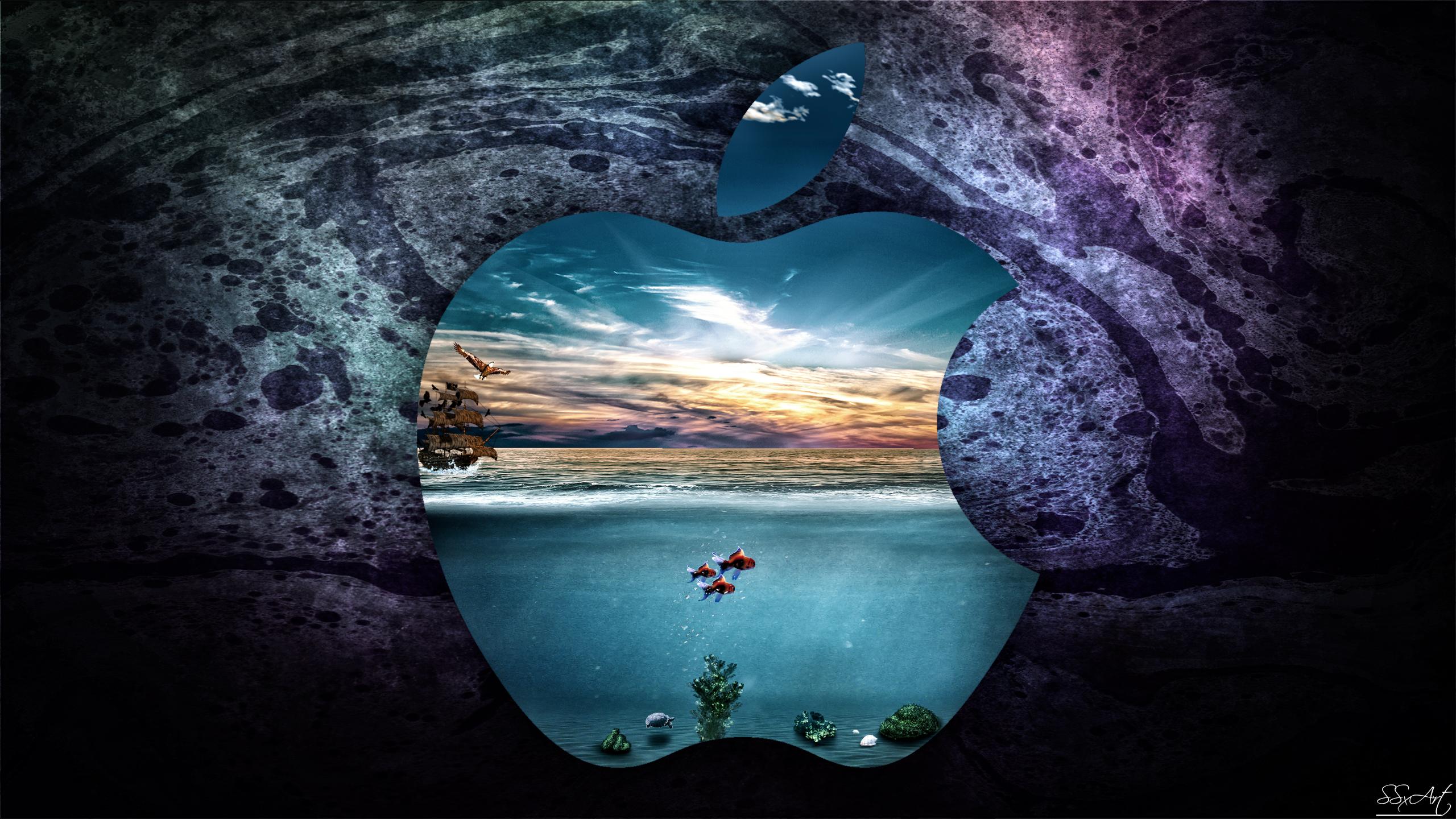 ssxartdeviantartcomApple UnderWater iMac 27 inch 2560x1440
