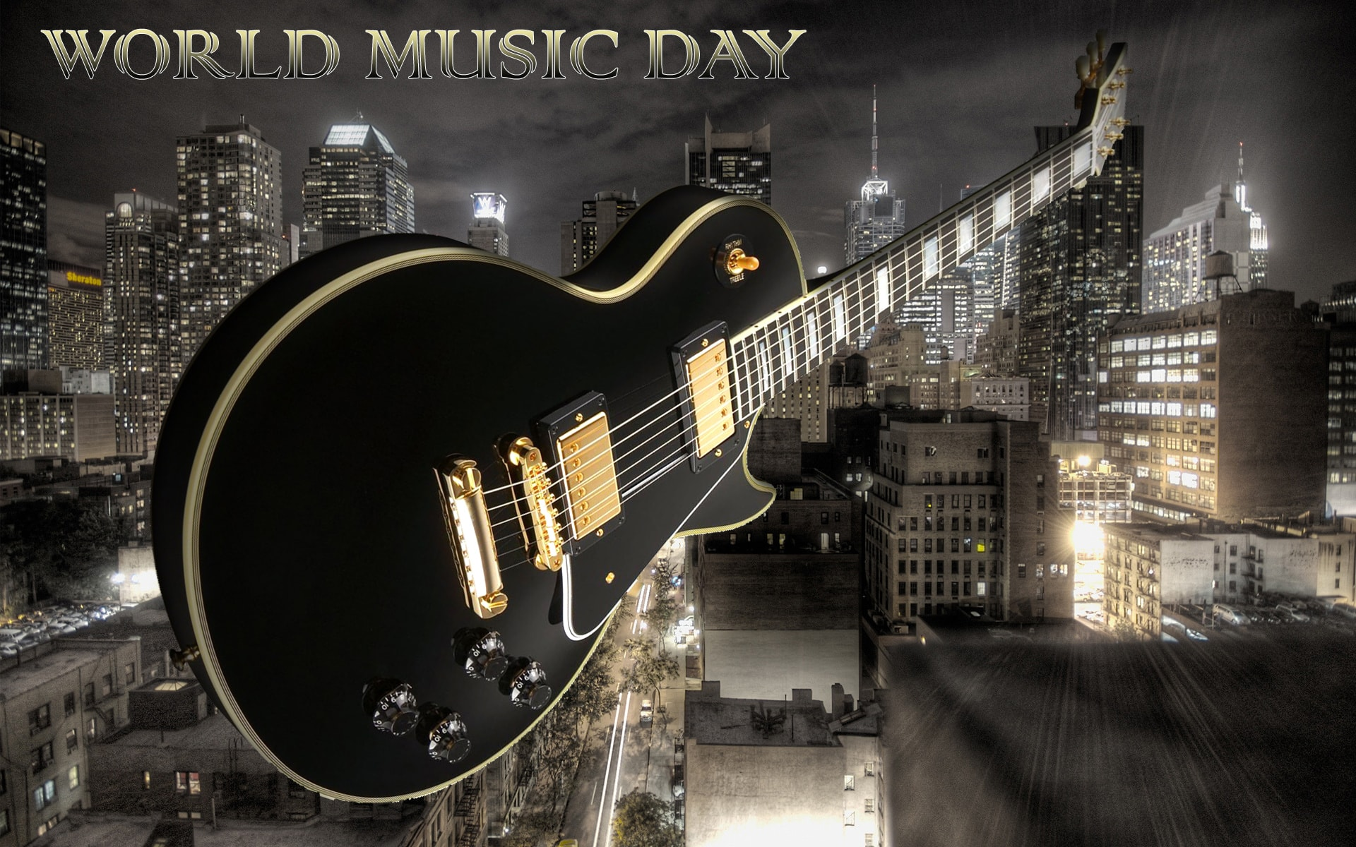download Happy World Music Day Guitar Around The World 1920x1200