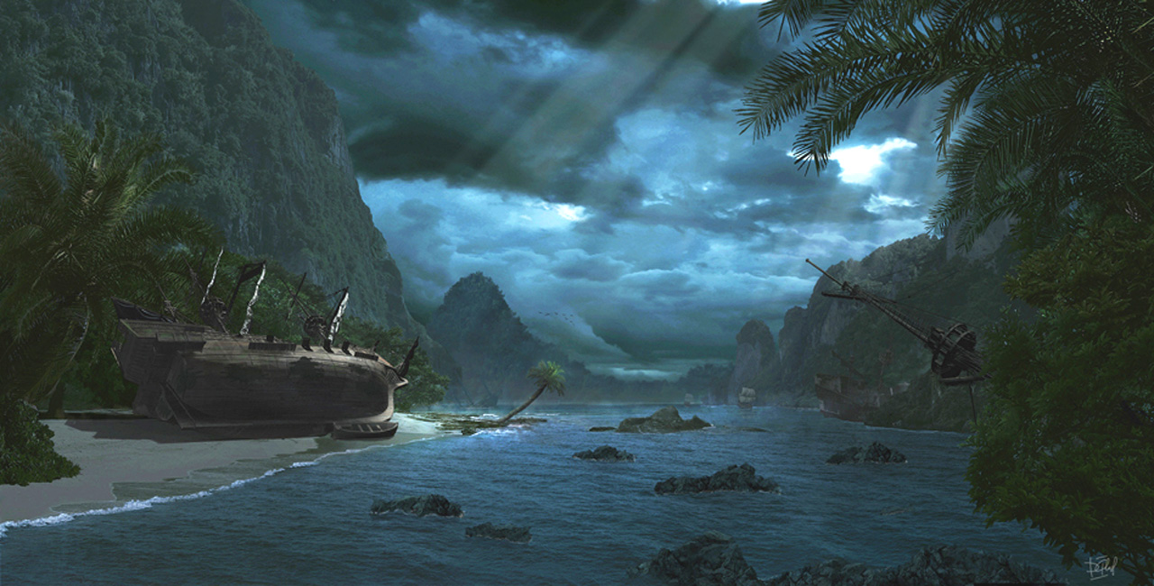 The end of pirate battle 1280 x 650pix wallpaper Nature 1280x650