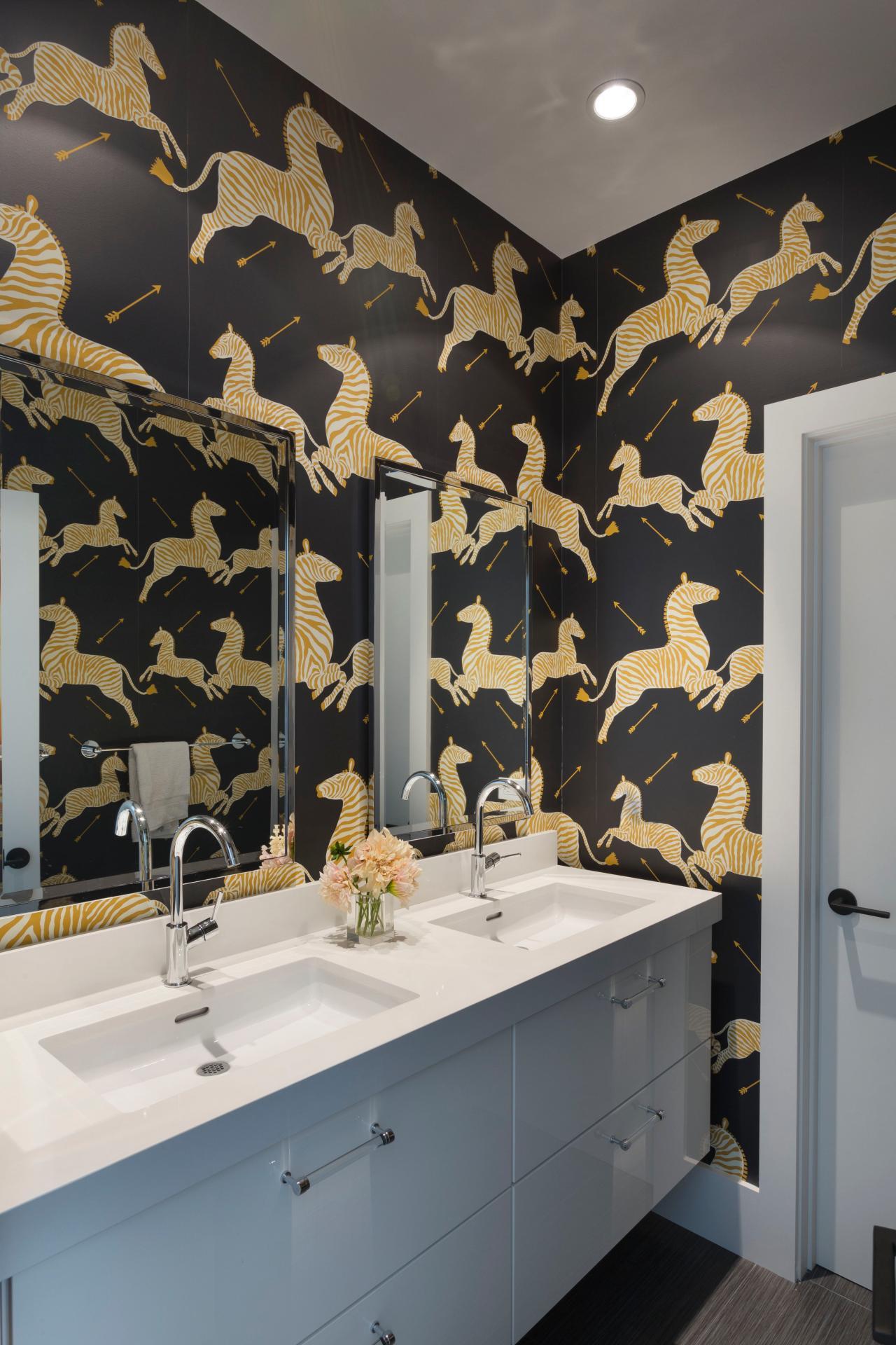 33+] Designer Bathroom Wallpaper on WallpaperSafari on