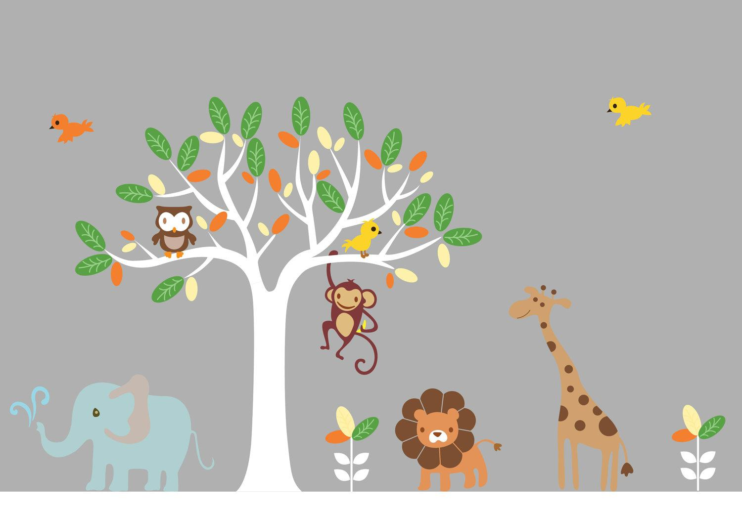 Animal Wall Decals For Baby Room