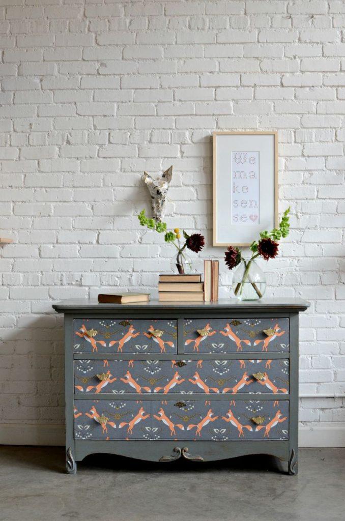 Dresser Upcycle DIY Home Decor Spoonflower Blog 678x1024