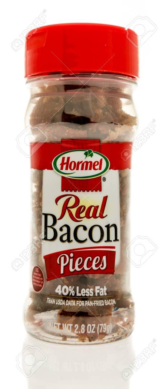 Winneconne WI   15 July 2017 A Bottle Of Hormel Real Bacon 547x1300
