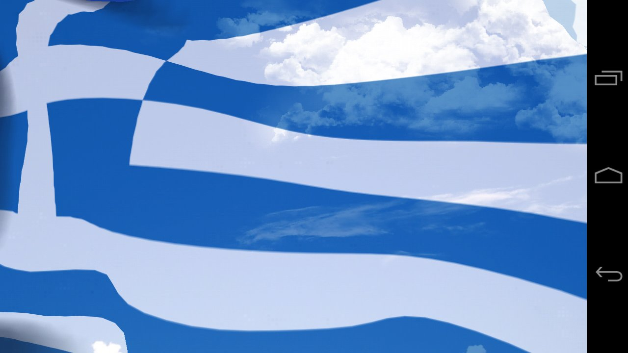 Greece Flag Live Wallpaper 1280x720