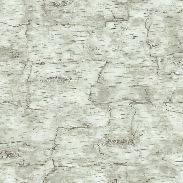 Birch Bark Wallpaper Off White Double Roll   Rustic   Wallpaper   by 640x640